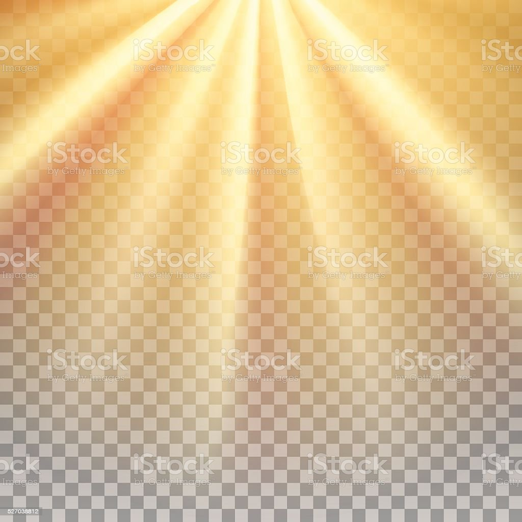 Yellow sun rays flare vector art illustration