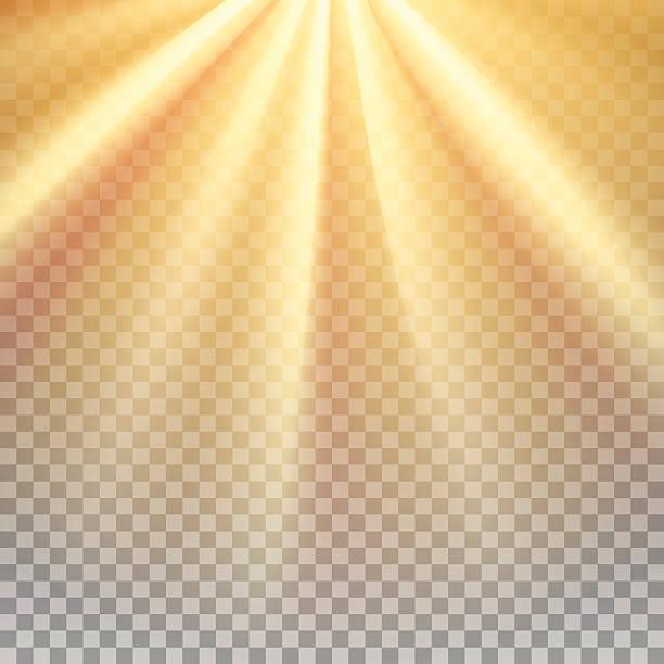 желтое солнце отблеск - духовность stock illustrations