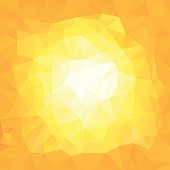 yellow sun triangular background