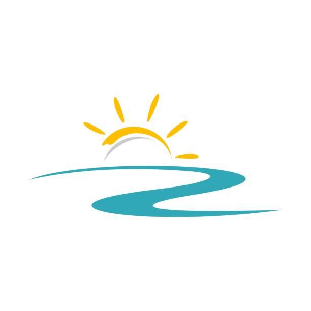 Yellow Sun Vector Logo Template Illustration Design. Vector EPS 10. Yellow Sun Vector Logo Template Illustration Design. Vector EPS 10. sunrise stock illustrations