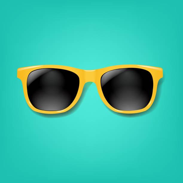 민트 배경노란색 선글라스 - 선글라스 stock illustrations