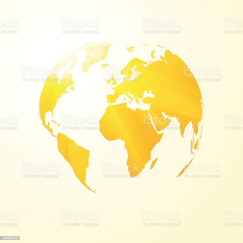 Carte Du Monde Jaune.Carte Du Monde Ensoleille Jaune Vecteurs Libres De Droits Et