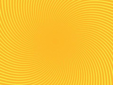 Yellow Swirl Spin Abstract Background Pattern