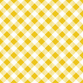 Yellow Tablecloth Argyle Pattern
