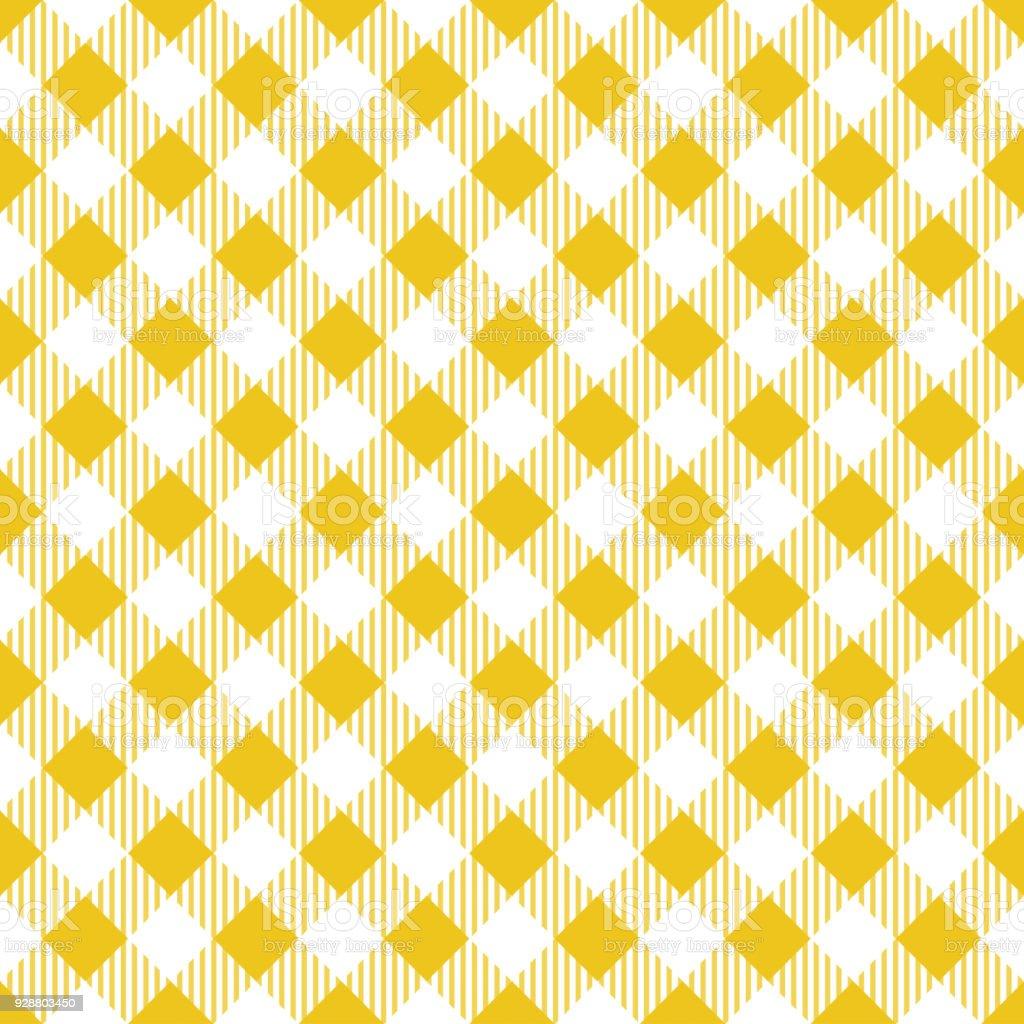 Yellow Tablecloth Argyle Pattern vector art illustration