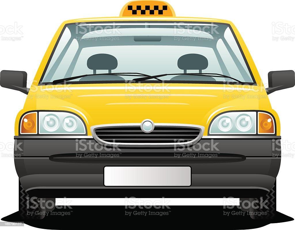 Yellow taxi royalty-free stock vector art