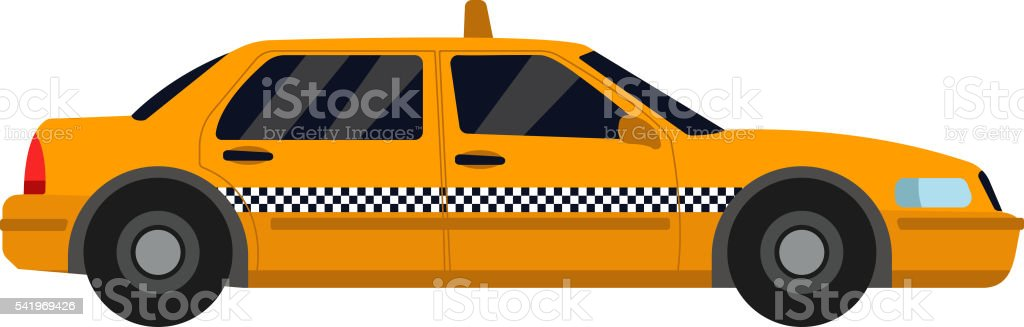 Yellow taxi vector illustration. vector art illustration
