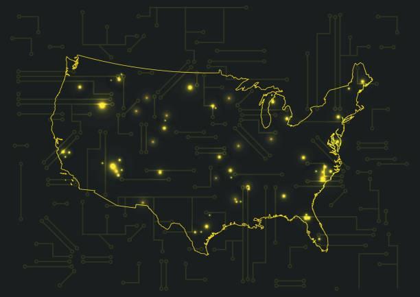 Map Of Usa At Night.Royalty Free Usa Map Night Clip Art Vector Images Illustrations