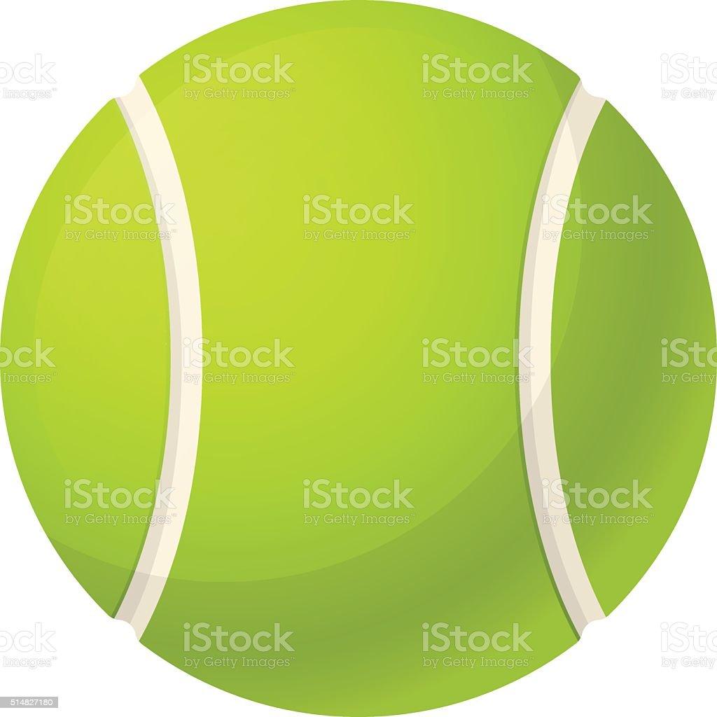 Yellow tennis ball vector art illustration