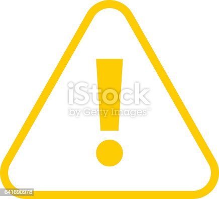 yellow triangle exclamation mark icon warning sign attention button illustracion libre de. Black Bedroom Furniture Sets. Home Design Ideas