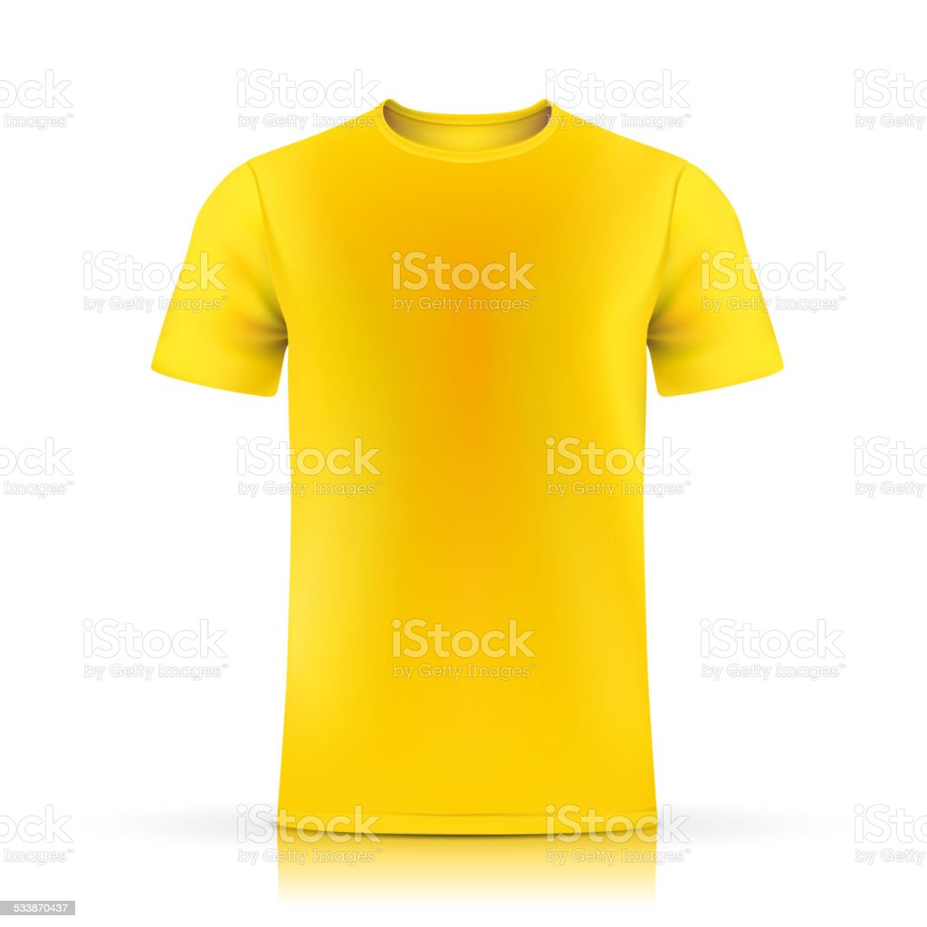 Yellow T Shirt Template Royalty Free Tshirt Stock Vector Art Amp
