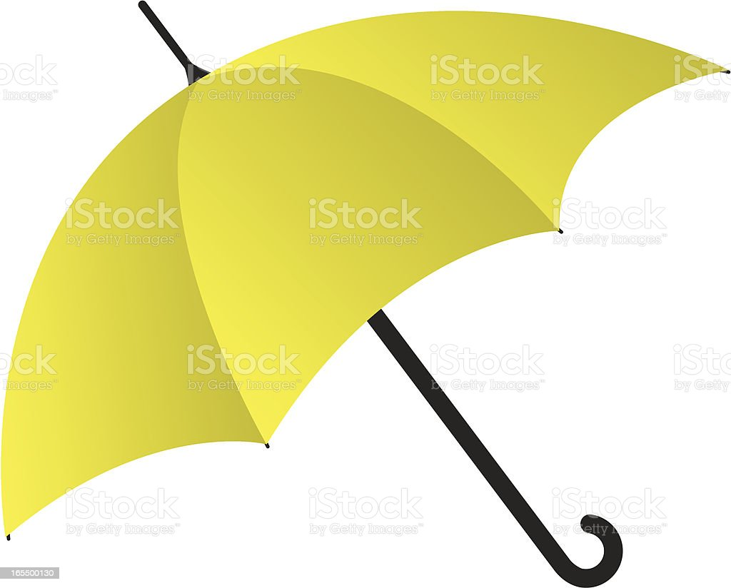 Yellow Umbrella royalty-free stock vector art
