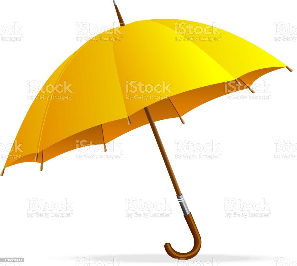 Yellow umbrella royalty-free yellow umbrella stock vector art & more images of care