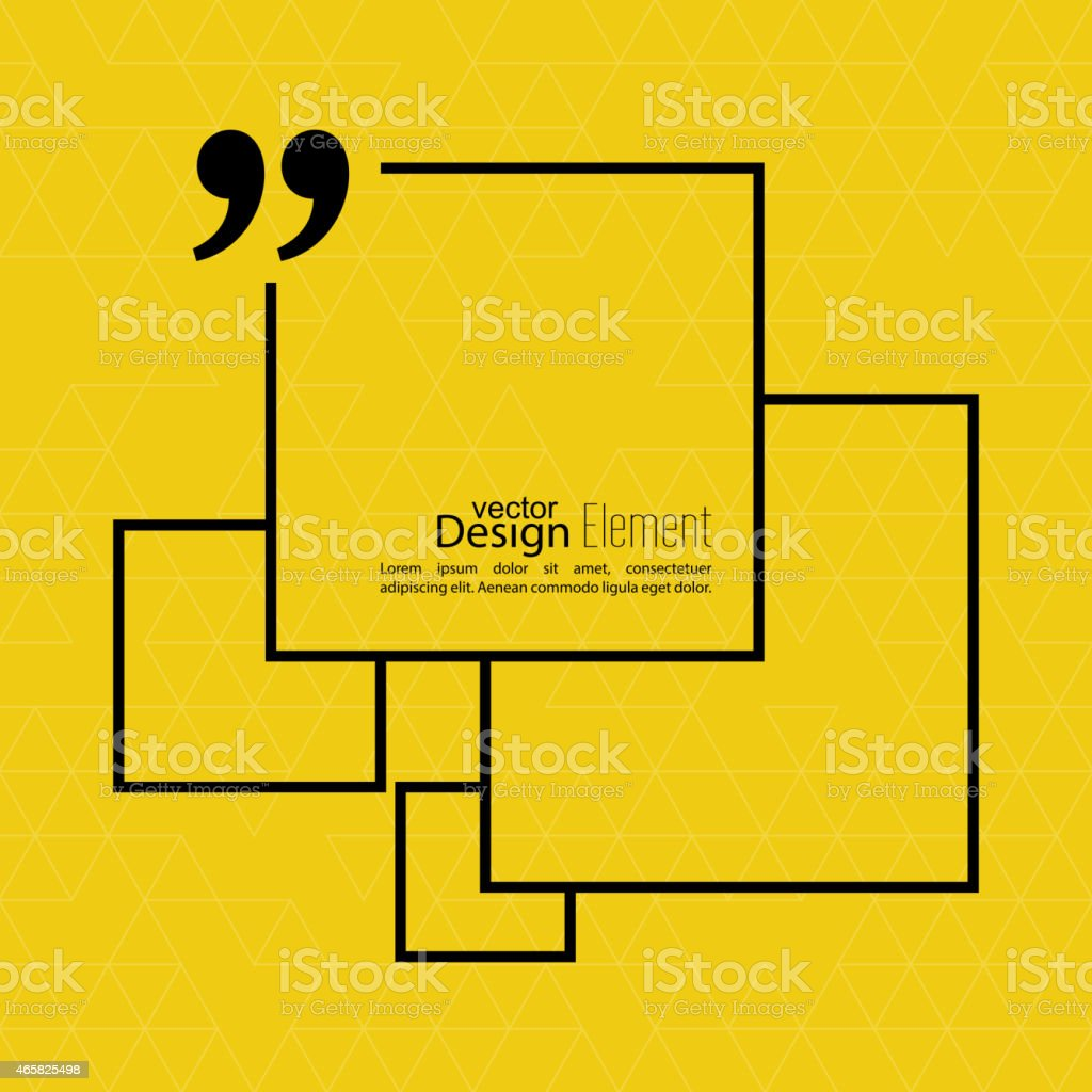 Yellow vector background with black squares vector art illustration