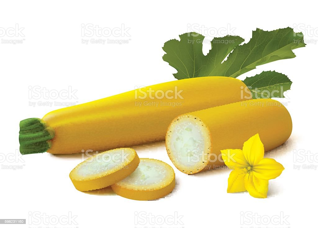 Yellow vegetable marrow (zucchini) on white background ilustração de yellow vegetable marrow on white background e mais banco de imagens de abobrinha royalty-free