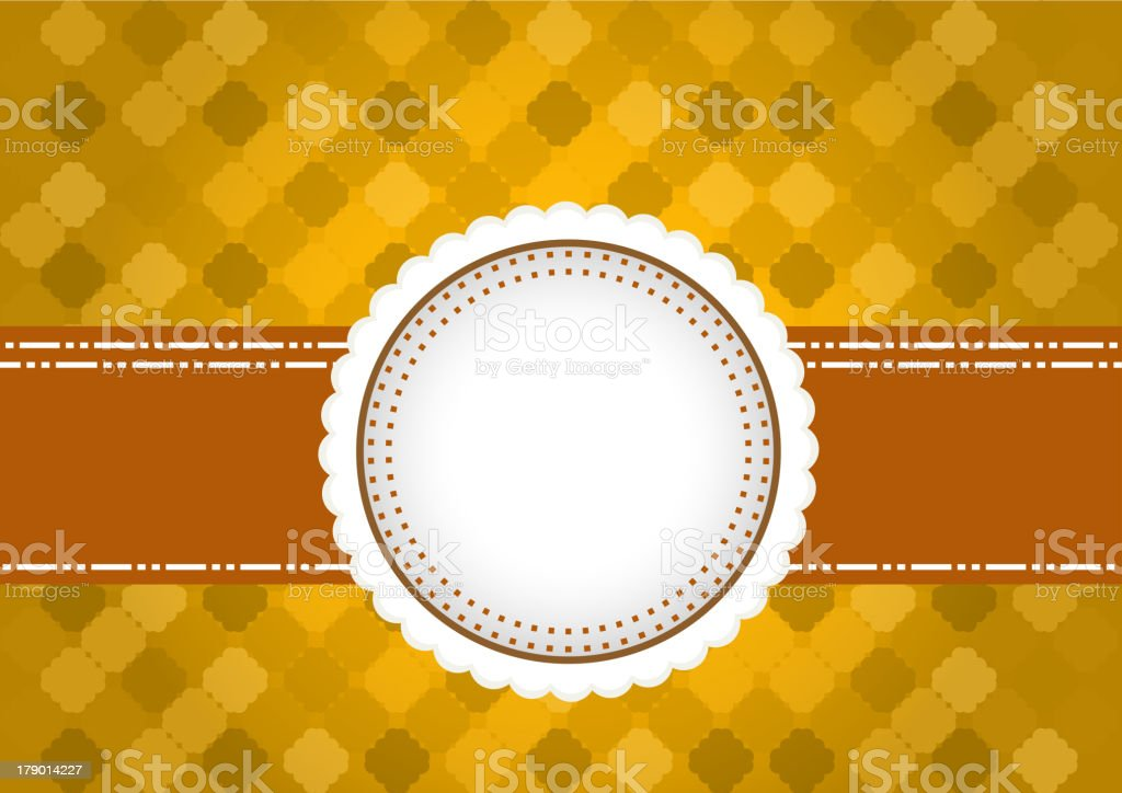 yellow vintage tag for design vector art illustration
