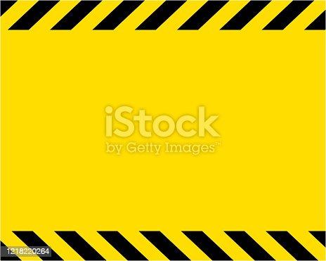 istock Yellow / Warning Wallpaper Background 1218220264