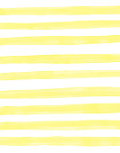 istock Yellow Watercolor Stripes Pattern Background. Coastal Summer Concept. Design Element for Greeting Cards and Labels, Marketing, Business Card Abstract Background. 1223678113