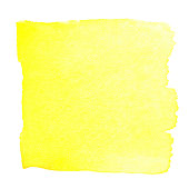 Yellow watercolour abstract square painting