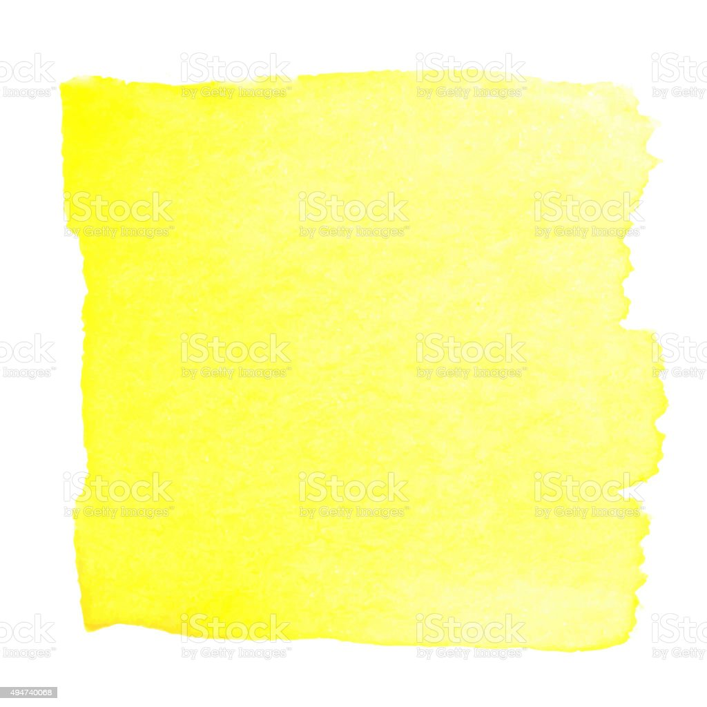 Yellow watercolour abstract square painting vector art illustration