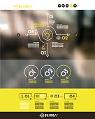 yellow website transparent template. infographic concept.
