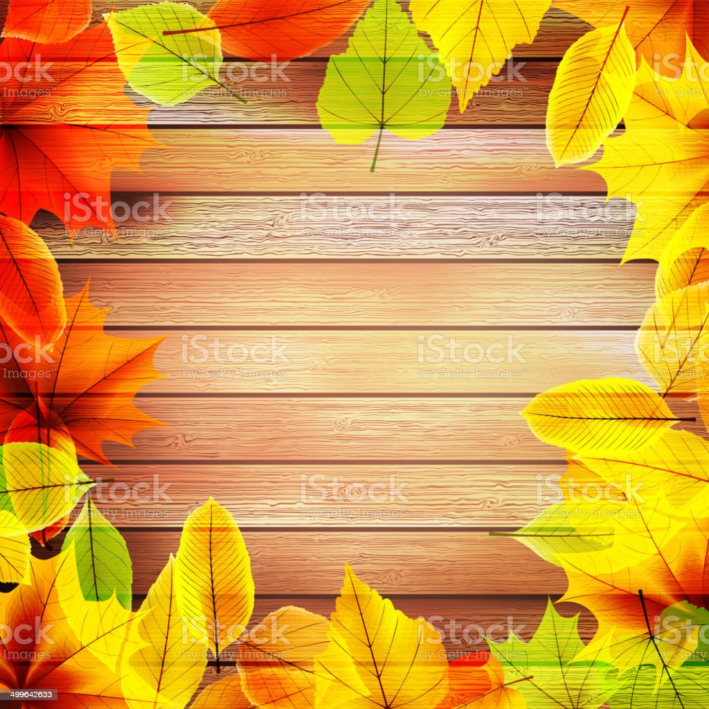 Yellow wet autumn leaves on the background. EPS10 royalty-free yellow wet autumn leaves on the background eps10 stock vector art & more images of at the edge of