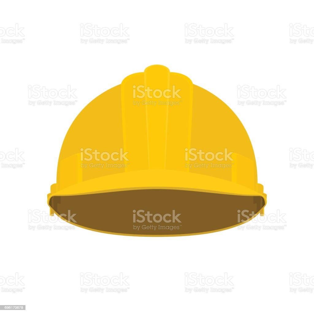 Yellow Working Safety Helmet vector art illustration