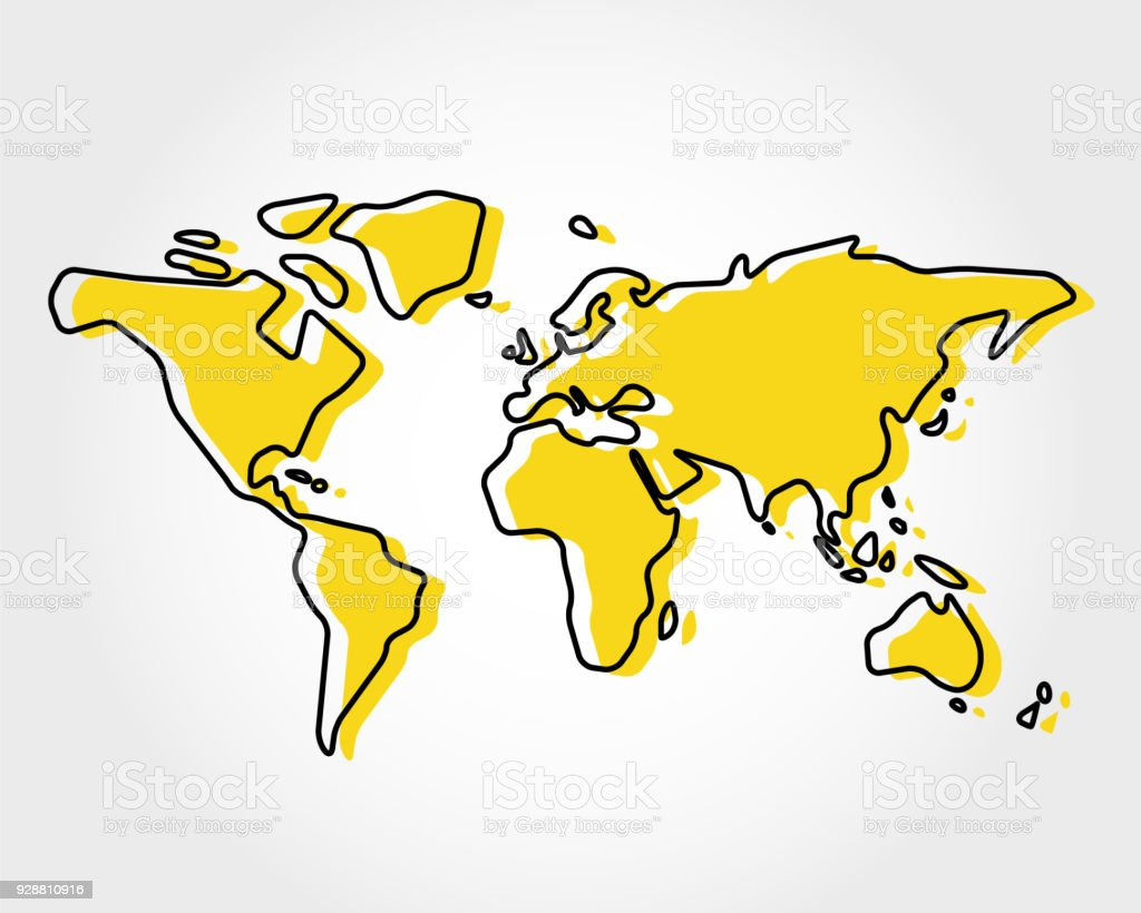 Yellow world map with rectangle stock vector art more images of yellow world map with rectangle royalty free yellow world map with rectangle stock vector art gumiabroncs Gallery