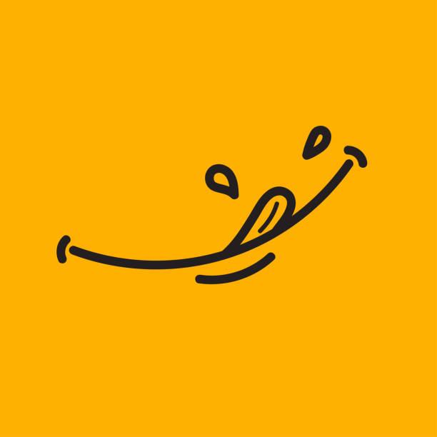 gelbe yum aufkleber - essen mund benutzen stock-grafiken, -clipart, -cartoons und -symbole