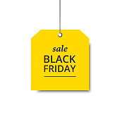 Vector label sale. Black Friday template. Banner sale.