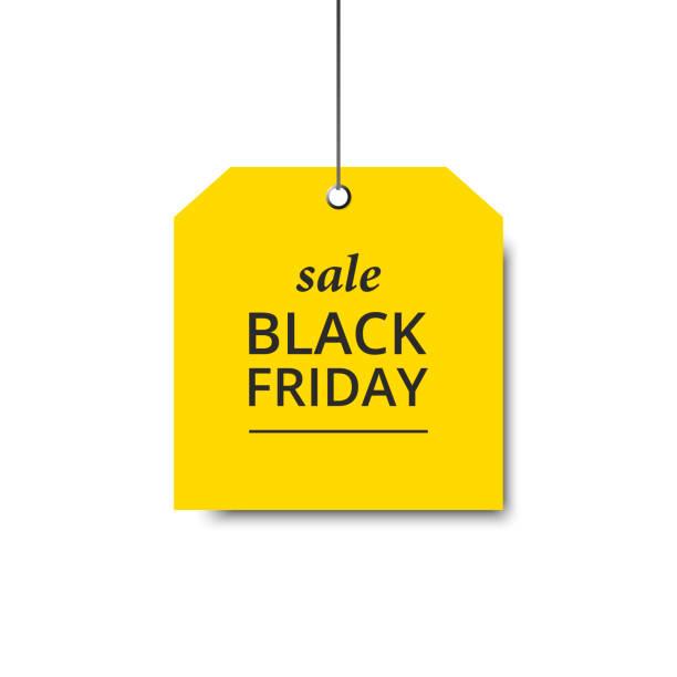 ilustrações, clipart, desenhos animados e ícones de amarelo-preto-sexta-feira - black friday