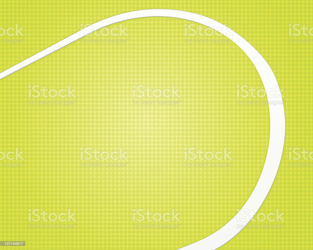 A yellow-green checkered background with a white swoosh royalty-free stock vector art