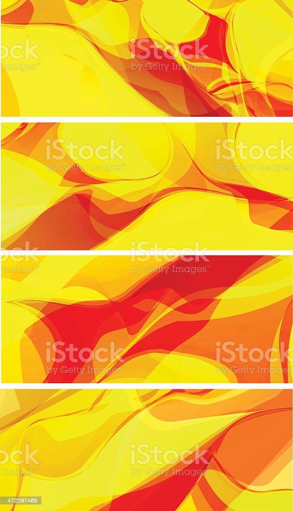 Yellow/orange banners royalty-free stock vector art