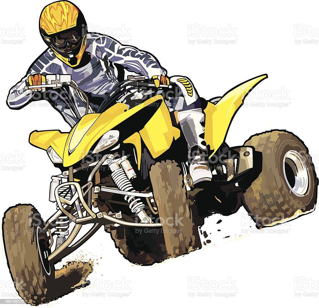 yellowquadirt royalty-free stock vector art