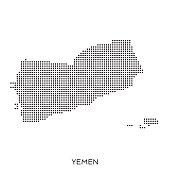 Yemen dot halftone pattern map