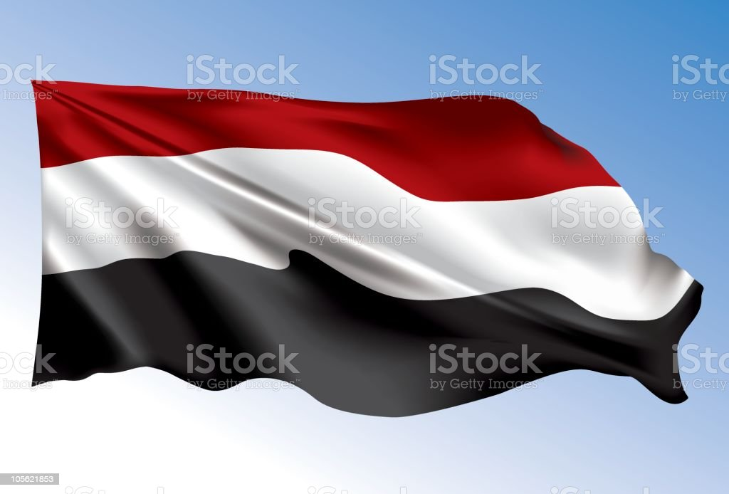 Yemen flag royalty-free stock vector art