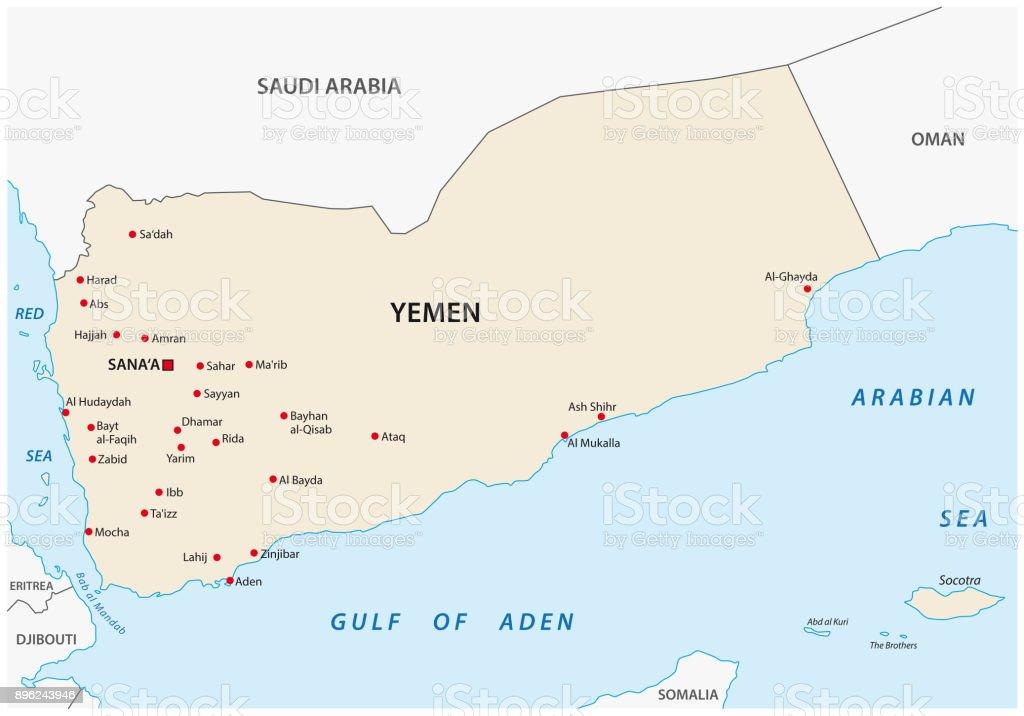 Yemen Map Stock Illustration - Download Image Now - iStock