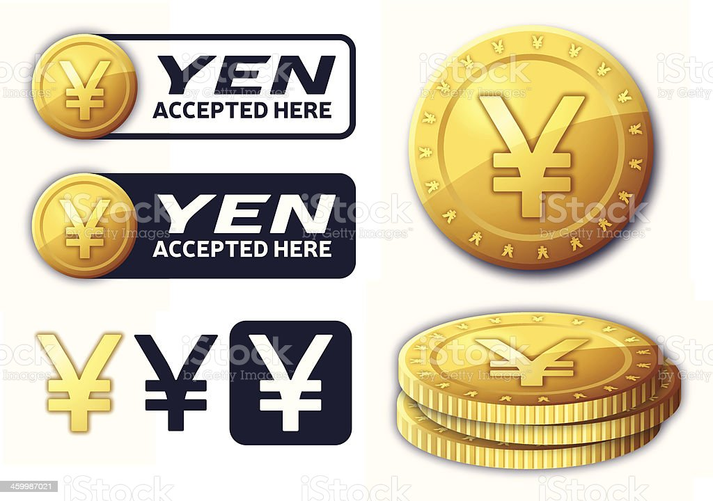 Yen Currency Elements royalty-free stock vector art