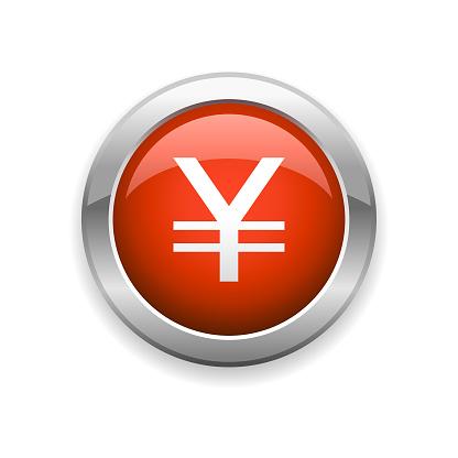 Yen JPY Dollar Sign Glossy Icon