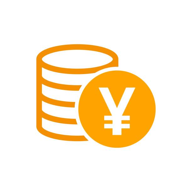 Yen, yuan money currency vector icon in flat style. Yen coin symbol illustration on white isolated background. Asia money business concept. Yen, yuan money currency vector icon in flat style. Yen coin symbol illustration on white isolated background. Asia money business concept. taiwanese currency stock illustrations