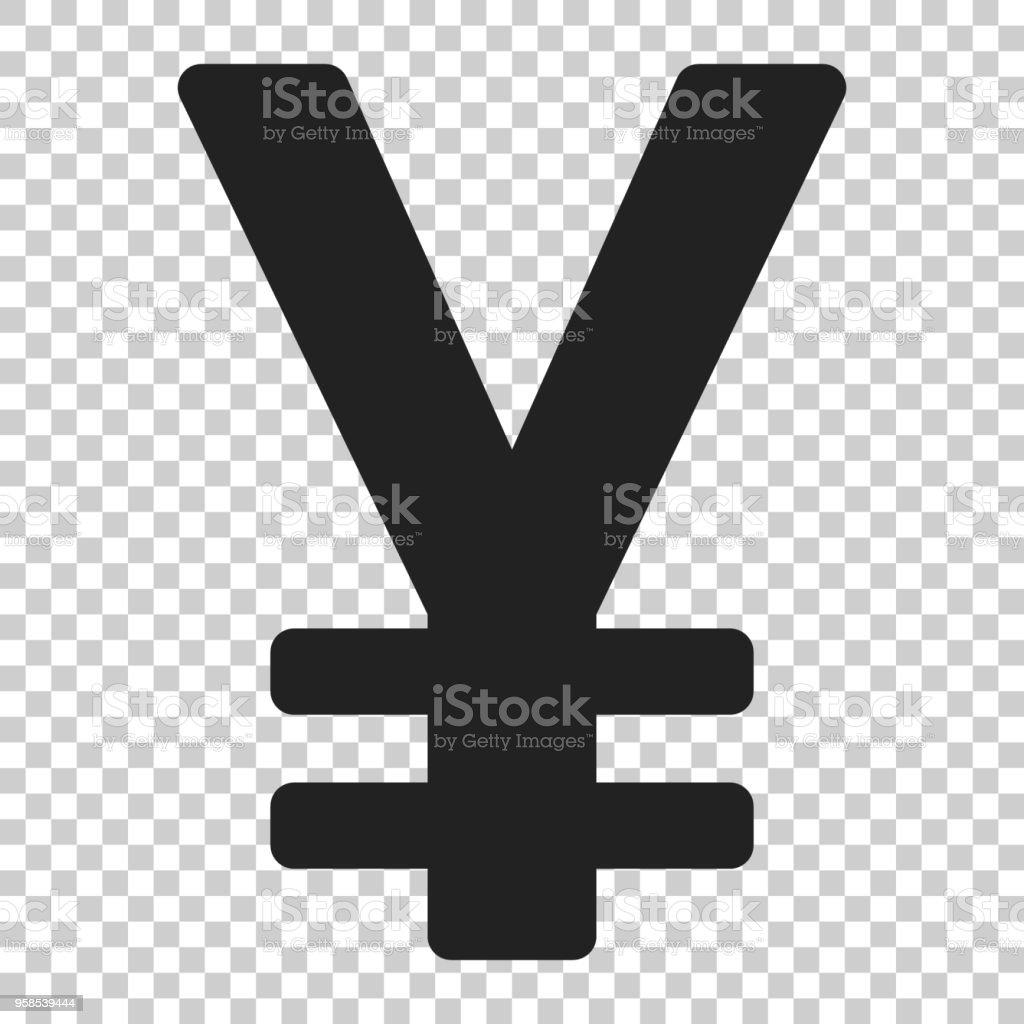 Yen Yuan Money Currency Vector Icon In Flat Style Yen Symbol