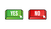 istock Yes and No button. Feedback concept. Positive feedback concept. Choice button icon. Vector stock illustration. 1270230215
