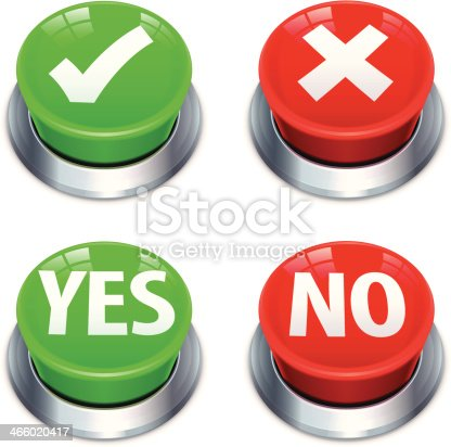 istock Yes No Push Buttons 466020417