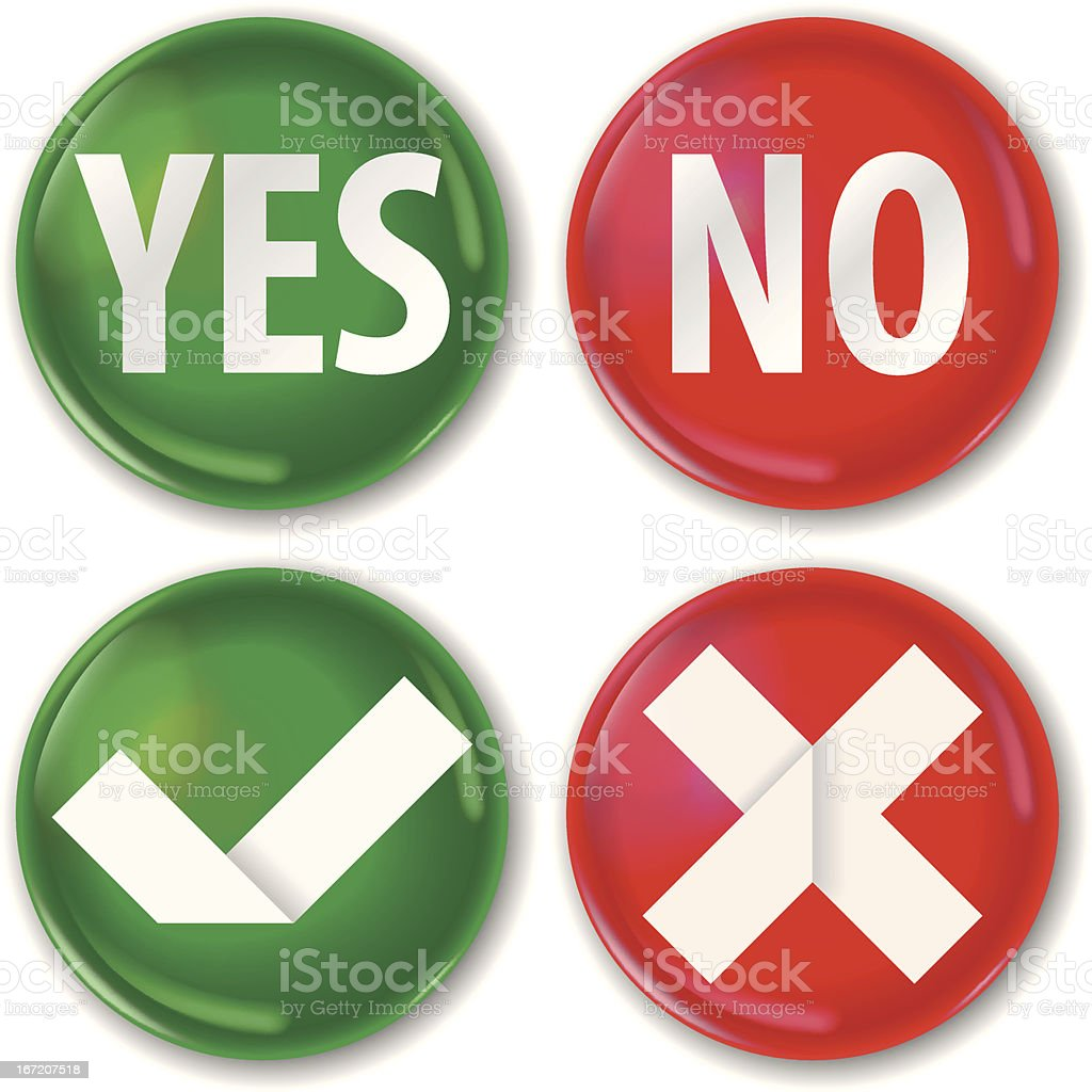 yes or no buttons royalty-free yes or no buttons stock vector art & more images of artificial