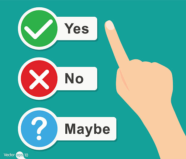 Yes or No icons vector art illustration