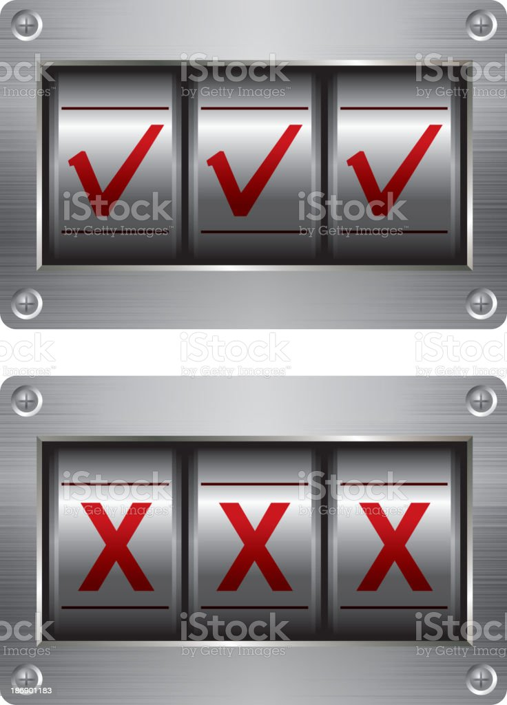 Yes or no royalty-free stock vector art