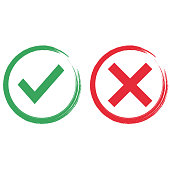 yes or no,paint vector icon illustration flat design