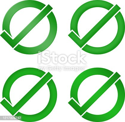 istock Yes Symbol In Four Style 1217326742