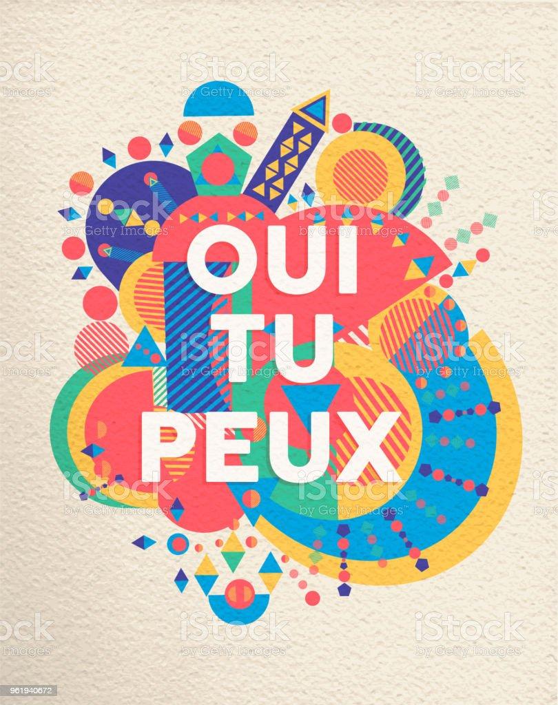 Oui Vous Pouvez Français Affiche De Citation De Motivation