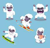 Yeti Cold Winter Set vector illustration.